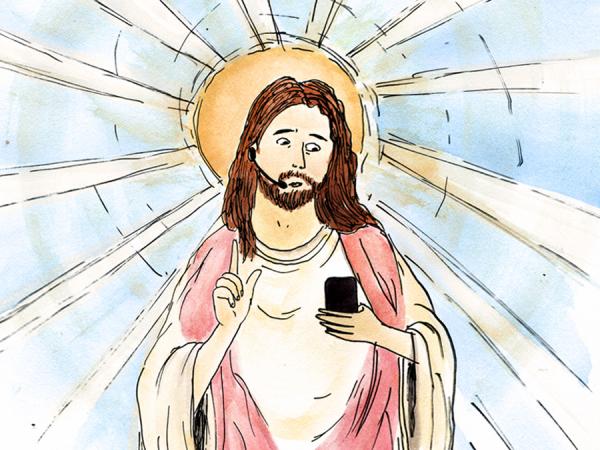 jesus okostelefonnal