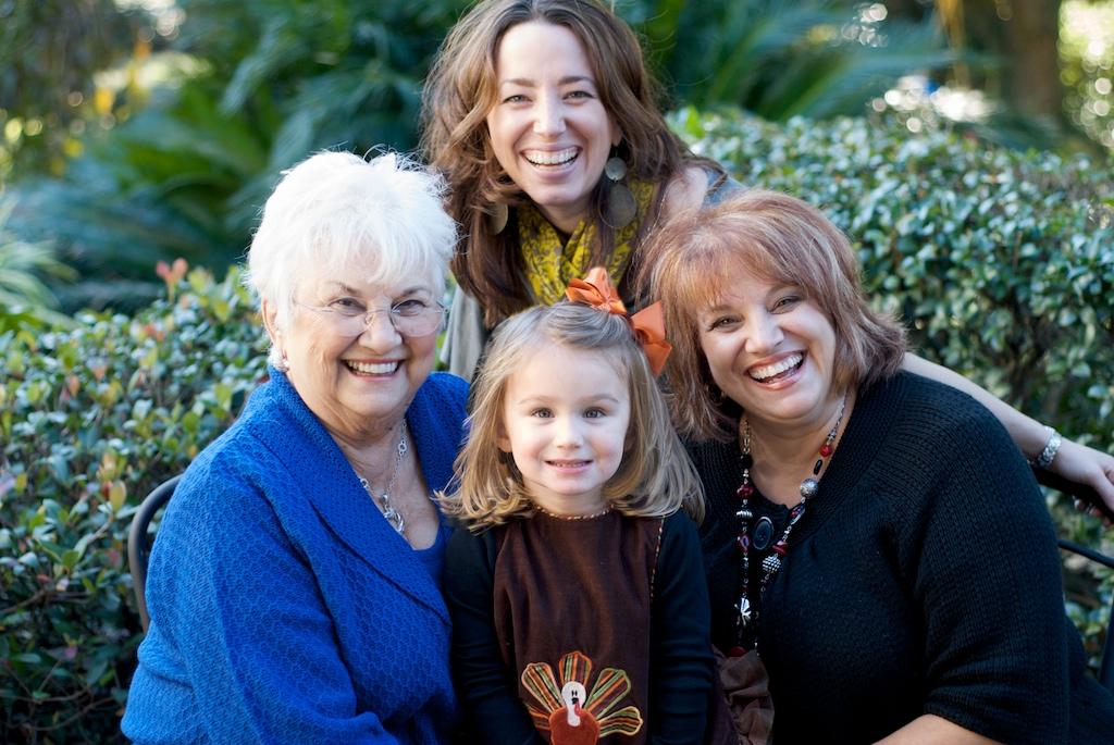 nők négy generáviója