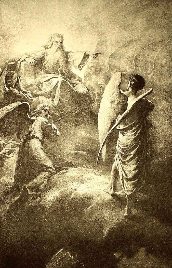 Mihály Zichy Lucifer 1887