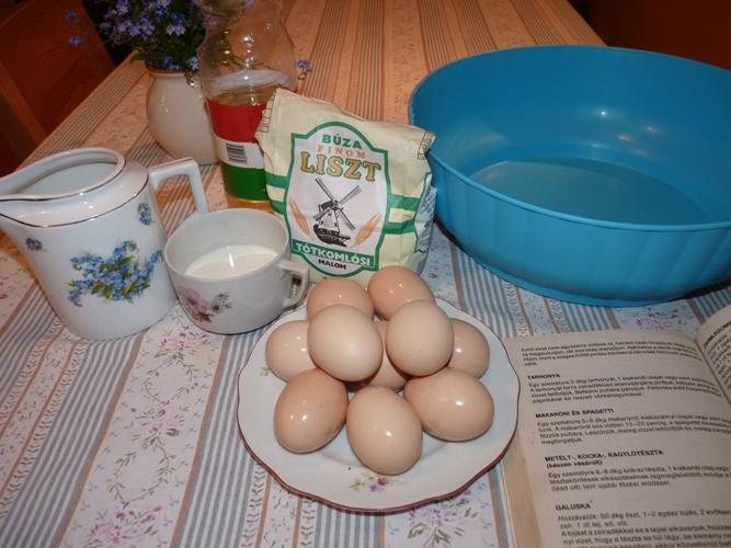 tojásos hozzávalók