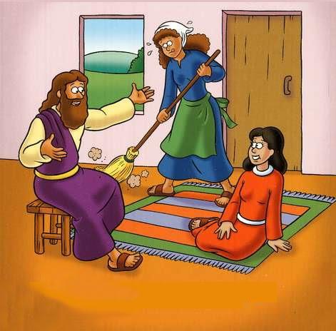 Jesus visita Marta e Maria