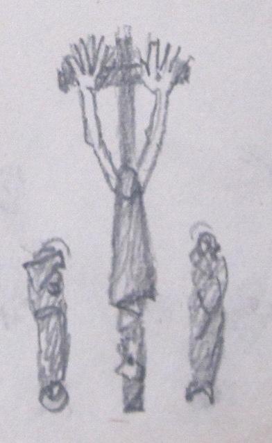 Németh Kálmán egy rajzának részlete, leltári szám A-230
